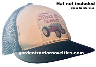 Ford Tractor 8N Redbelly Embroidered Emblem Iron-On Sew-On Hat Shirt Patch