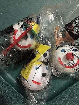 3 Lot Jack in The Box Antenna Ball Toppers - in original packages