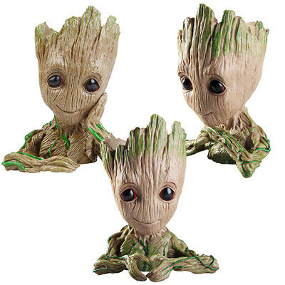 Baby Groot The Galaxy Vol 2 Guardians Flowerpot Tree Man Figure Pen Pot Toy Gift