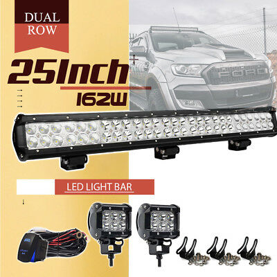 """25inch DUAL ROW 162W LED LIGHT BAR COMBO FOR UTE ATV OFFROAD TRUCK FORD 24"""""""