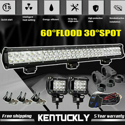 25In 162W Led Work Light Bar S&F Truck Offroad ATV 4X4WD For JEEP 12V 24V 24/26