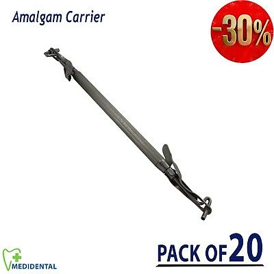 Metal Amalgam Carrier Gun Restorative filling Instruments Dental Tool pack of 20