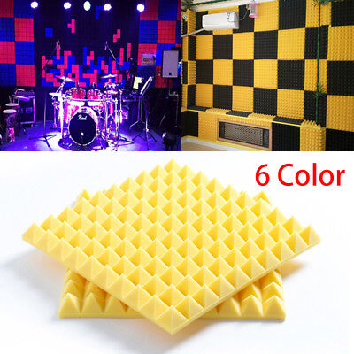 """20"""" Acoustic Foam Panel Studio Pyramid  Soundproofing Wall 6 Color High Quality"""