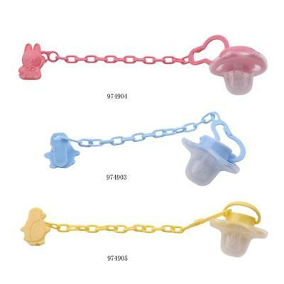 Baby Soft Dummy Pacifier Anti-drop Chain Soother Nipple Anti-lost Leash FW