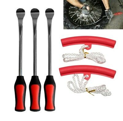 5 in 1 Tire Changing Tool Set Kit Tire Spoon Lever Tools Rim Protectors for Car
