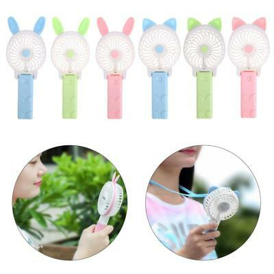 Cute Mini Portable USB Charging Handheld Fan Mute Cooler Device with Cable