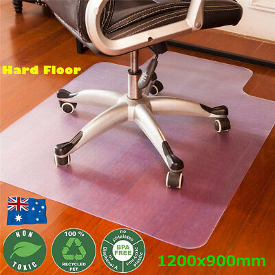 1200X900mm Hard Floor Wood Chair Mat Home Ofiice Computer Work PVC Protector Pad