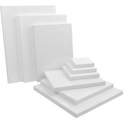 Blank Canvases *ALL SIZES AVAILABLE* Stretched Plain Artists Wall Art Deco Paint