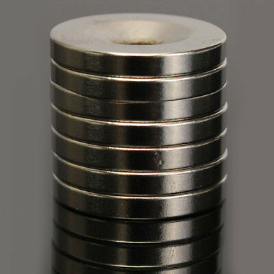5-50x N50 Strong 20x4mm Round Ring Magnet Hole 5mm Rare Earth N50 Neodymium Hot