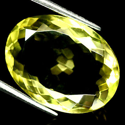 15.76 Ct Vvs Natural Lemon Yellow Quartz African Oval