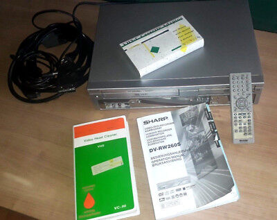 Video/DVD-Recorder Kombigerät Sharp DV-RW 260 S  komplett Kit  mit Fernbedienung