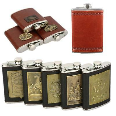 Portable Stainless Steel Leather Flask Russia Hip Flask Personalized Bottle Wine