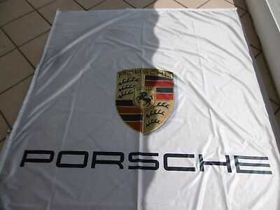 PORSCHE 911,Drapeau de concession PORSCHE,grand format,Rare,Superbe décoration