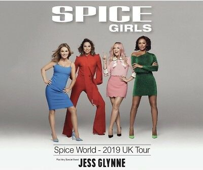 2 Tickets Spice Girls -Spice World 2019 UK Tour -Manchester -29 May 2019 -BK 125
