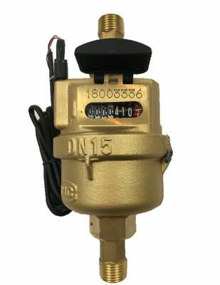 """DAE VM-50P 1/2"""" Positive Displacement Water Meter, Pulse Output, Gallon+Coupling"""