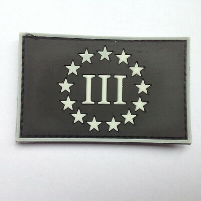 THREE PERCENTER TAB 3/% Tactical Morale Patch