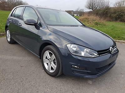 VW VOLKSWAGEN GOLF 1.6 TDi BMT MATCH EDITION, 5 DOOR, 2016, GREY