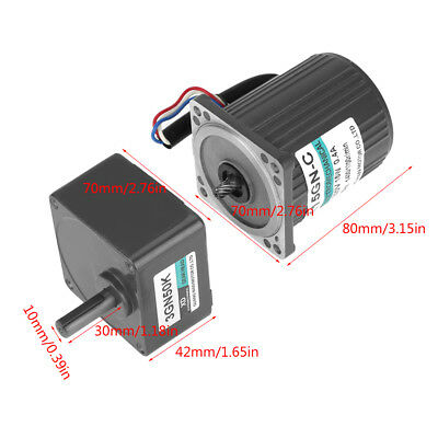 AC220V 15W 3IK15GN Single Phase Gear Motor Low Speed CW/CCW with Speed Control