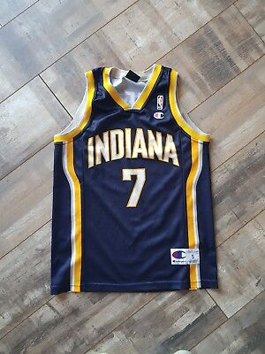 Jermaine O'Neal Indiana Pacers Basketball Jersey Size Small Champion NBA Vest