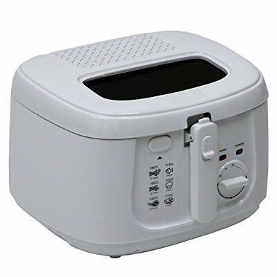 Electric Deep Fat Fryer Kitchen Non Stick Chip Pan Basket Oil 2.5L Lid White