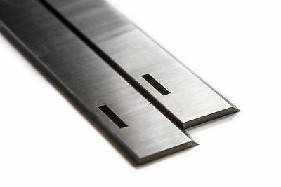 "HSS Planer Blades 12inch Slotted for 12"" 1/8"" Multico 1 Pair -S705S9"