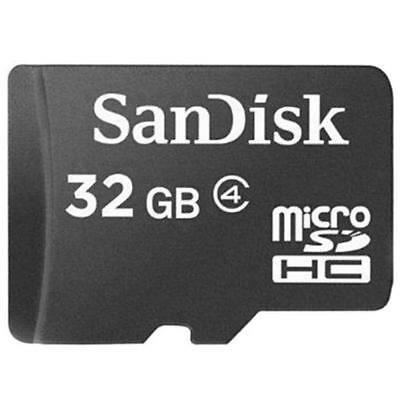32GB SanDisk MicroSD SDHC Class 4 TF C4 Memory Card GENUINE  W/Adapter