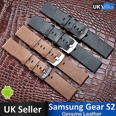 @Pebble Samsung Gear S2 Strap Replacement Genuine Leather Watch for Classic 20mm