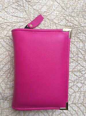 Pink leather Bible cover 4 Jehovah's Witness pocket  edition grey Bible