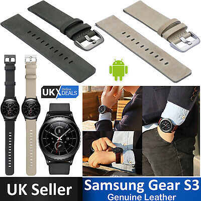 New Samsung Gear S3 Watch Replacement Band Genuine Leather Wristband Strap 22mm