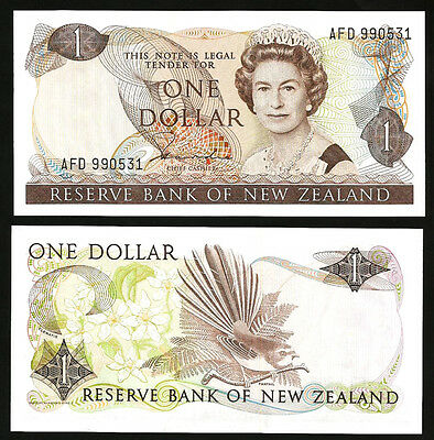 NEW ZEALAND 1 DOLLAR 1981 - 1985 UNC P 169a SIGN : HARDIE