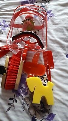 New Cottage Craft Red Junior Grooming Kit