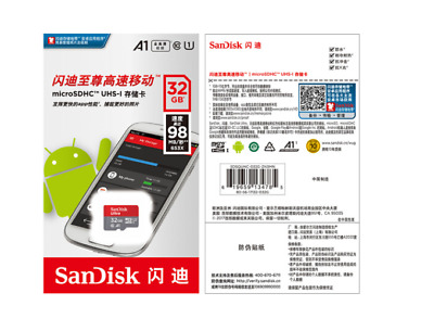 SanDisk 32GB Ultra 98MB/s MicroSD SDHC 32GB Class 10 Micro SD for Mobile Phone