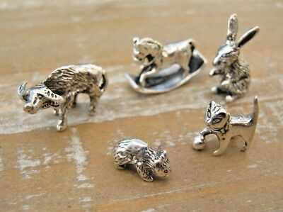 Wholesale Job Lot 5 x Birmingham Hallmarked Sterling Silver Mixed Animals