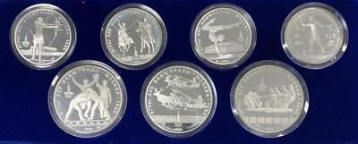 5/10 Rubles Proof Russia 1980 ´Moscow Olympic Games´ Silver coin set
