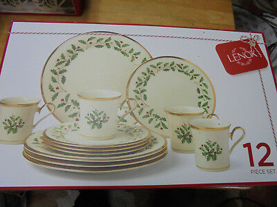 "Lenox 12 Piece Set Of ""holiday"" China - Made In China"