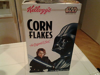 Star Wars Kellogg's Corn Flakes Star Wars Episode lll Cereal Box unopened