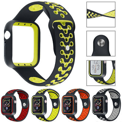 Rubber Sports Watch Band Strap Replacement For Apple Watch 40 44mm iWatch 4 3 2