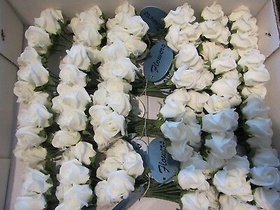 192 Ivory Roses 24 Bunches of 8 Artifical Wedding Flowers For Buttonholes Ect