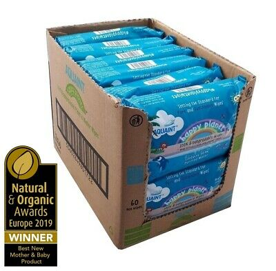 Happy Planet Baby Nappy Wipes 100% Biodegradable 0% Plastic 99.9% Water Bulk