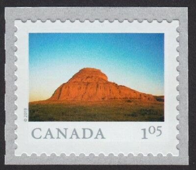 CASTLE BUTTE = FROM FAR AND WIDE = Single from coil of 50 MNH-VF Canada 2019