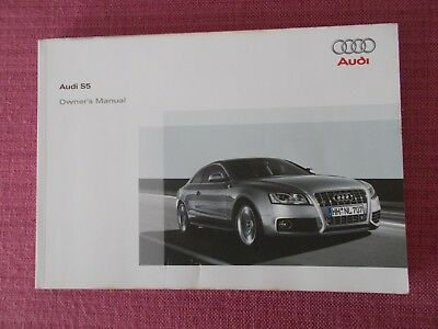 Audi S5 Coupe (2007 - 2011) Owners Manual - Handbook (Au 743)