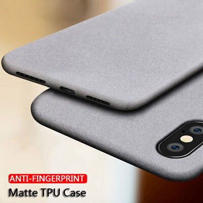 For iPhone XS Max/XR X Shockproof Ultra Slim Soft TPU Sandstone Matte Case Cover