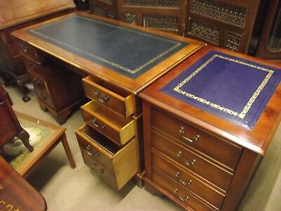 """ Pedestal Desk With Filing Cabinet """