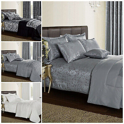 Luxury 3 Piece Jacquard Quilted Bedspread Paisley Comforter Set With Pillow Sham