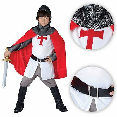 3-4 Years Boys Medieval Lord Costume Knight Fancy Dress Rubies Kids Outfit