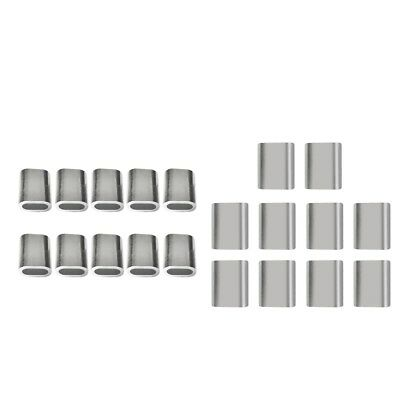 20x Aluminium Steel Sleeves Clip for Wire Rope