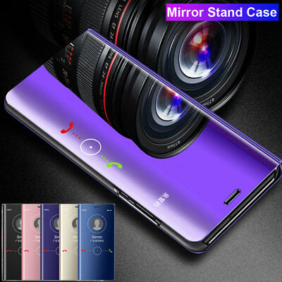 360° Clear View Mirror Case Cover for Xiaomi Redmi Note 6 Pro Flip Wallet Cover