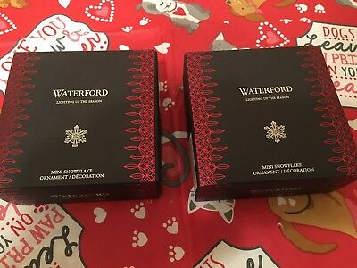 Waterford Crystal 2018 Mini 2.5 Snowflake Christmas Ornament GET 2 In This Sale
