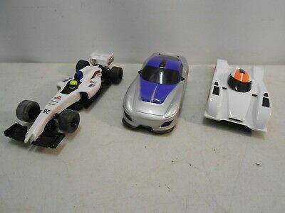3x  Scalextric Slot Racing Cars Hornby, 1x F1 Team, 2x Sports Cars