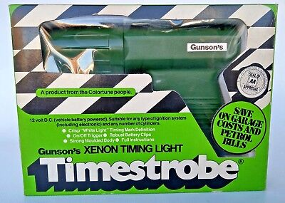 Vintage Gunson's 12 Volt Timestrobe Xenom Timing Light Boxed